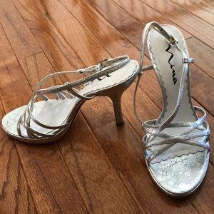 Nina Gish silver dress sandals